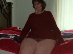 Dicke Frau mit grosser haariger Fotze
