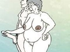 Oma im Zeichentrick Porno